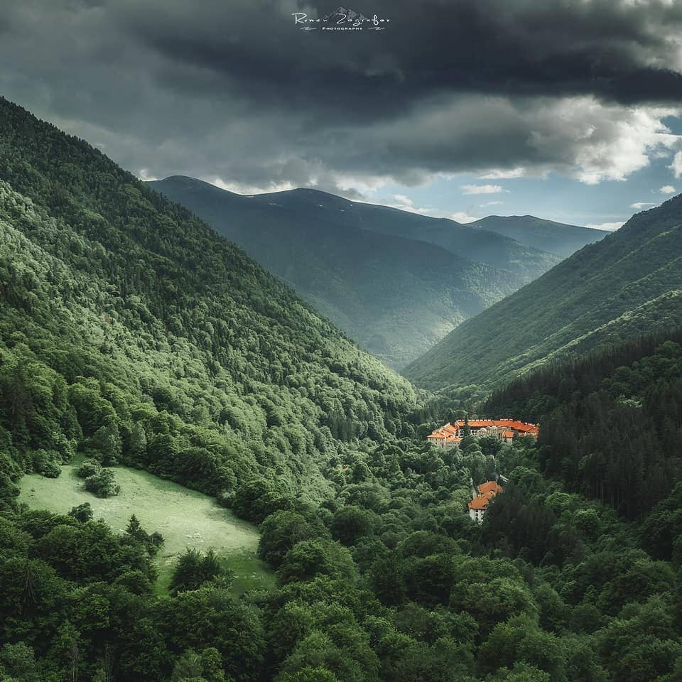 Rila monastery and the river valley
